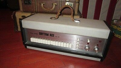Vintage Original Circa 1968 Acetone Rhythm Ace Drum Machine White And Black Cool