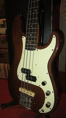 Vintage 1966 Fender Precision Bass P-Bass Mocha With Hard Case Sounds Killer