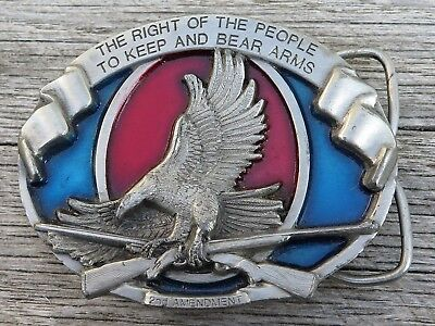 Second Amendment Eagle Guns Firearms Bergamot Brass Works Vintage Belt Buckle