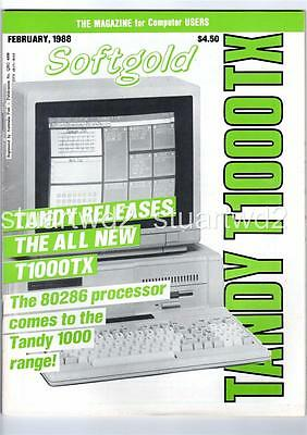 Tandy Computer Softgold Magazine February 1988 - Freepost
