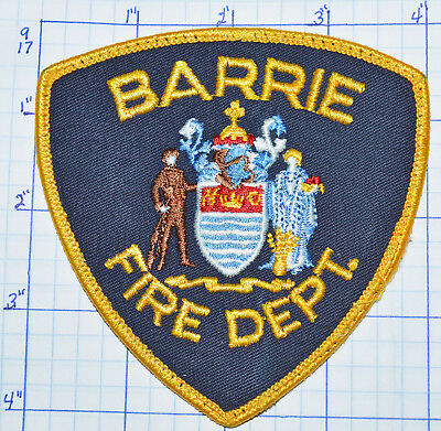 Canada, Barrie Fire Dept Ontario Gold Edge Patch