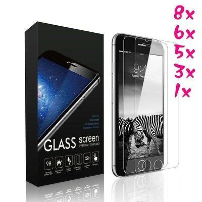 Lot Tempered Glass Protective Screen Protector Film for iPhone X 8 7 6 6S 5