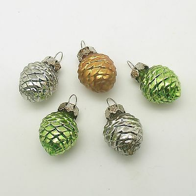 Glass Christmas Ornaments Pine Cones Feather Tree
