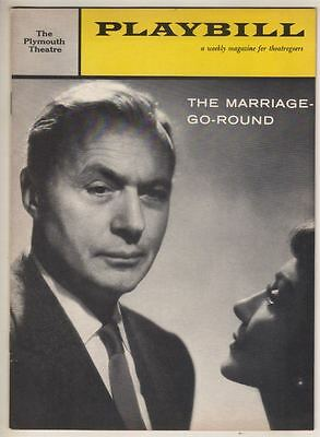 """Charles Boyer & Claudette Colbert  """"The Marriage-Go-Round""""  Playbill  1958"""