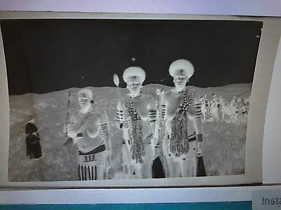4 X C1920's African Tribes People Photographs & The Original Negatives. Eshowe ?