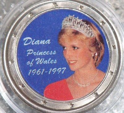 1997 Princess Diana Commemorative Coloured Medallion-Box & Certificat-No Reserve