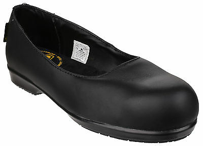 Amblers FS109C Safety Composite Toe Cap Industrial Womens Shoes Flats UK3-8