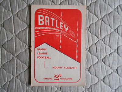 Batley V York Rugby League Match Programme February 1952