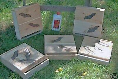 Bat House.BAT NESTING BOX. NEXT DAY SHIPPING, ONE=2=chamber.M.E. HOLLEY JR