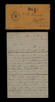 85th New York Infantry CIVIL WAR LETTER - Written from Plymouth, North Carolina