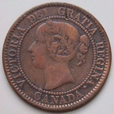 1859  Canada Canadian Old Large 1 Cent Coin Queen Victoria