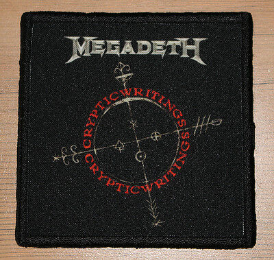 """MEGADETH """"CRYPTIC WRITINGS"""" silk screen PATCH"""