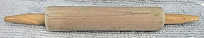 """Contemporay 1980's solid light tone wood 11"""" pastry rolling pin FREE S/H"""