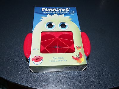 FunBites Shaped Food Cutter, Red Hearts And Triangles. New In Box