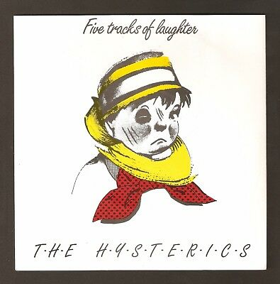 """The Hysterics - Five Tracks of Laughter  7"""" vinyl  1981"""