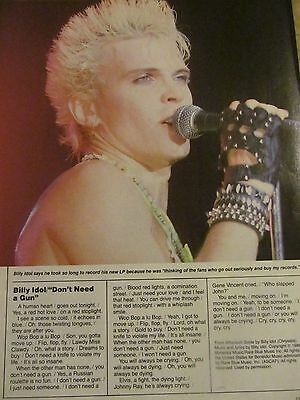 Billy Idol, Stryper, Double Full Page Vintage Clipping