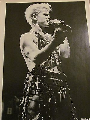 Billy Idol, Dokken, Double Full Page Vintage Pinup