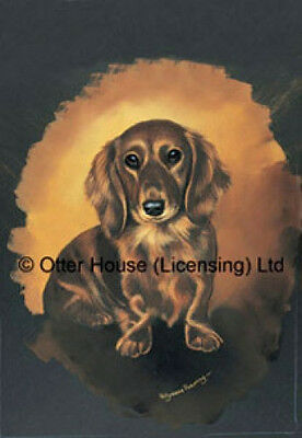 Large Indoor/Outdoor Portrait Flag - Red Dachshund (PP) 90039