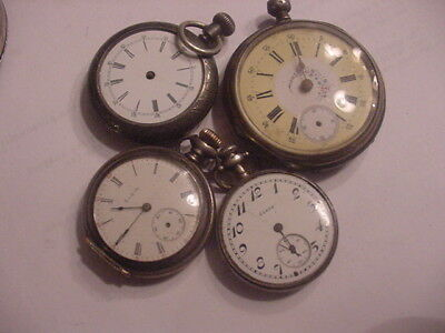 Pocket Watches 2 Elgin Sterling a Multi colored Swiss & Sterling More 32-45 mm