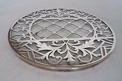 Unusual 1934 Sterling / Solid Silver Tea Pot Stand