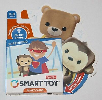 Fisher-Price Smart Cards pack - SUPERHERO - 9 NEW cards - 3-8 yrs New & Sealed