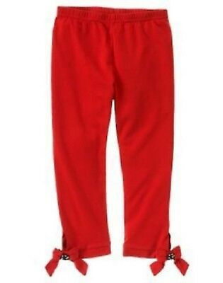 NWT Gymboree Girls Winter Penguin Red Cropped Stretch Leggings Size 4