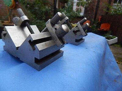 "Pair of lathe, milling V blocks & clamps 2 1/2"" x 3""7/8th's"