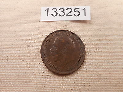 1918 Great Britain Half Penny Very Nice Grade Collectible Album Coin - # 133251