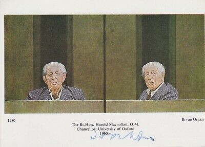 Stamps University Of Oxford Postcard Signed Prime Minister Harold Macmillan