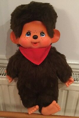 """Vintage Chic A Boo - Large Tobby Bear 16"""" Tall!  By Chad Valley - Monchichi"""