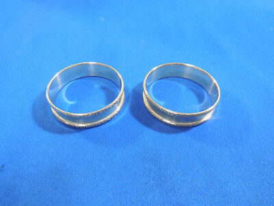 Pair  Sterling Silver  Napkin Rings Marked WC Co.