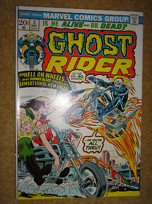 GHOST RIDER # 3 SON OF SATAN ROMITA MOONEY 20c 1973 BRONZE AGE MARVEL COMIC BOOK