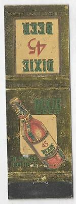 Dixie 45 Beer Matchbook Cover