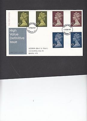 1977 High Values gutter pair set on Post Office First Day Cover