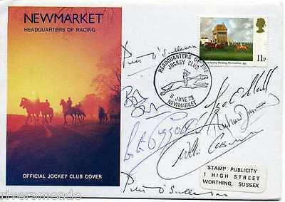 1979 Horseracing Cover Newmarket SIGNED 7 signatures