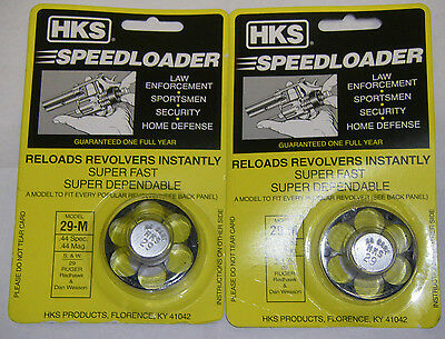 2 Pack HKS 29-M Speed Loader S&W Ruger Redhawk Dan Wesson 44 SPL 44 Mag