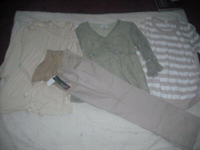 Womens Maternity NWT Lot 4 Oh Baby Motherhood Pants Tops Size XL WoW Retail 94.0