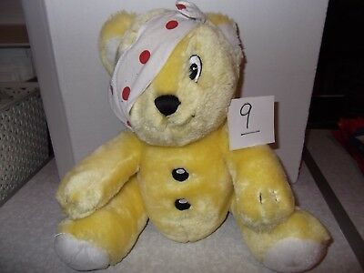 """Number 9 Pudsey Bear Children in Need Soft Toy 10"""",Pre Owned, Good Condition"""