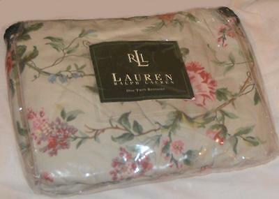 RALPH LAUREN Toulouse Floral Pewter TWIN BEDSKIRT NWT RARE