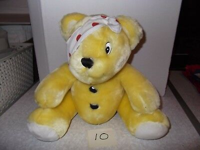 """Number 10 Pudsey Bear Children in Need Soft Toy 10"""",Pre Owned Good Condition"""