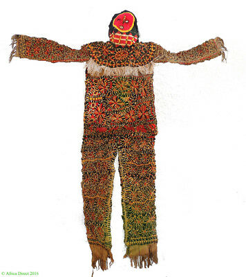 Igbo Dance Costume Appliqued with Cloth Mask Nigeria Africa