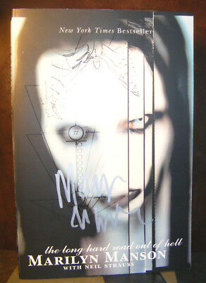 The Long Hard Road Out Of Hell By Marilyn Manson 1999 SC Signed