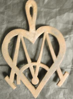 Antique Cast Iron Masonic Trivet