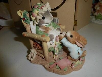 Enesco Blushing Bunnies   Hillman The Holidays Join Us Together
