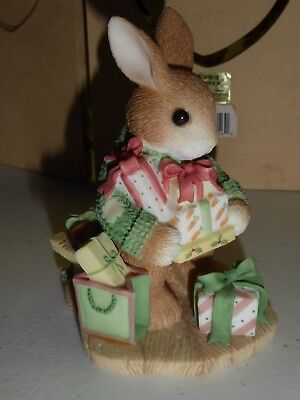 Enesco Blushing Bunnies Priscella Hillman Bless Some Bunny With Holiday Cheer