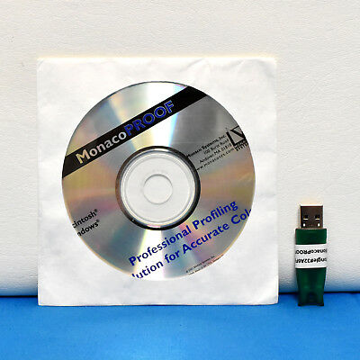 X-Rite MonacoProof Professionl Profiling Salution for Accurate Color with Dongle