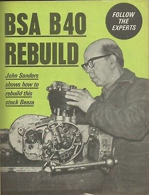 Rare BSA B40 350 ENGINE EXPERT BUILD ARTICLE C15 250 C25 SS80 B25
