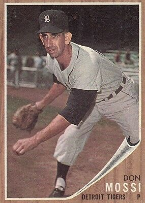 Topps 1962 #105 Don Mossi-Detroit Tigers