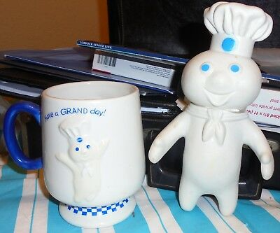 Pillsbury Doughboy Figure & Coffee Mug