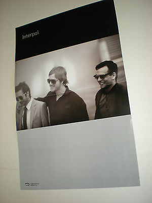 POSTERS by INTERPOL promo fpr the bands new tour / show / album / cd GIG lot